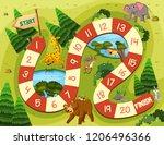 wild animal board game ...   Shutterstock .eps vector #1206496366