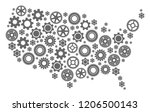 map of usa created with gray... | Shutterstock .eps vector #1206500143