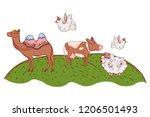 group of animals cartoon   Shutterstock .eps vector #1206501493