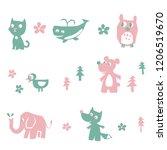 animal character vector   Shutterstock .eps vector #1206519670