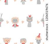 animal pattern vector   Shutterstock .eps vector #1206519676