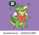 Hipster Gator Cartoon T Shirt