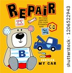 bear with repair animal vector...   Shutterstock .eps vector #1206522943