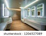 modern design of public toilet... | Shutterstock . vector #1206527089