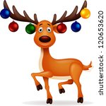 Deer With Christmas Ball