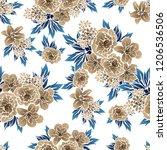 abstract elegance seamless... | Shutterstock . vector #1206536506