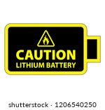 a lithium ion or lithium metal... | Shutterstock .eps vector #1206540250