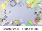 flat lay or overhead view of... | Shutterstock . vector #1206541003