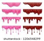 dripping doughnut glaze... | Shutterstock .eps vector #1206548299