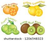set of citrus fruits...   Shutterstock .eps vector #1206548323