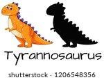 design of tyrannosaurus... | Shutterstock .eps vector #1206548356