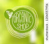 hand drawn natural eco bio... | Shutterstock .eps vector #1206557956