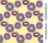 fruit seamless pattern with... | Shutterstock .eps vector #1206564016