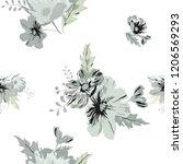 seamless floral pattern.... | Shutterstock .eps vector #1206569293