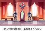 medieval castle throne room or... | Shutterstock .eps vector #1206577390