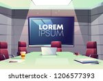 business meeting or conference... | Shutterstock .eps vector #1206577393