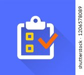 survey vector icon with long...   Shutterstock .eps vector #1206578089
