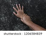 hands for rape and sexual abuse ... | Shutterstock . vector #1206584839