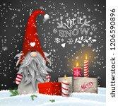 christmas still life ... | Shutterstock .eps vector #1206590896