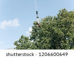 person jumped with a rope for... | Shutterstock . vector #1206600649