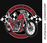 design logo club motorcycle ... | Shutterstock .eps vector #1206603589