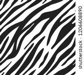 vector zebra animal seamless...   Shutterstock .eps vector #1206608890