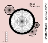 mood tracker for 30 days of a... | Shutterstock .eps vector #1206616090