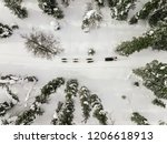 aerial view of sledding with... | Shutterstock . vector #1206618913