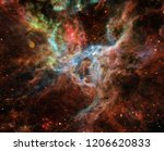 space nebula. cosmic cluster of ... | Shutterstock . vector #1206620833