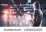hacking and criminal concept....   Shutterstock . vector #1206622426
