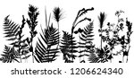 vector template with leaves and ...   Shutterstock .eps vector #1206624340
