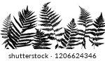 vector green background with... | Shutterstock .eps vector #1206624346