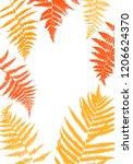 vector green background with... | Shutterstock .eps vector #1206624370