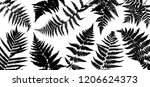 vector green background with... | Shutterstock .eps vector #1206624373