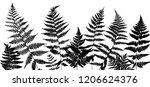 vector green background with... | Shutterstock .eps vector #1206624376