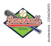 baseball logo with text space... | Shutterstock .eps vector #1206626053