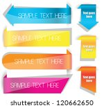 colorful labels on a web page | Shutterstock .eps vector #120662650