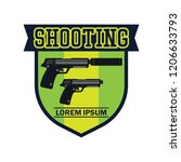 shooting logo with text space... | Shutterstock .eps vector #1206633793
