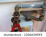 worker with a caliper... | Shutterstock . vector #1206634093