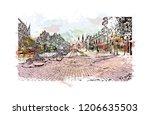 la capitale de la lumiere et du ...   Shutterstock .eps vector #1206635503