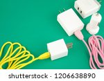 adapter cable and car charger... | Shutterstock . vector #1206638890