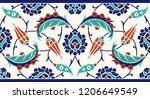 floral border for your design.... | Shutterstock .eps vector #1206649549