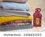 winter and fall cozy sweaters... | Shutterstock . vector #1206651523