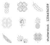 set of nature linear... | Shutterstock .eps vector #1206656359