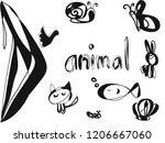 set animal icon   Shutterstock .eps vector #1206667060