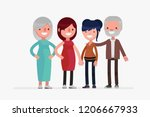 same sex cute families isolated ... | Shutterstock .eps vector #1206667933