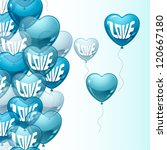 background with flying balloons ... | Shutterstock .eps vector #120667180