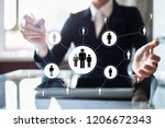 hr human resources management.... | Shutterstock . vector #1206672343