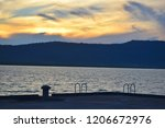sunset and the sky and sea in... | Shutterstock . vector #1206672976