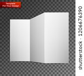 close up of a leaflet blank... | Shutterstock .eps vector #1206676390